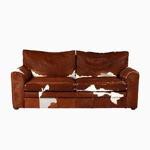 Vintage Kuhfell Sofa, 1970er