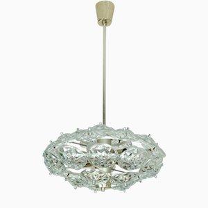 Lámpara Sputnik con flores de cristal facetado, años 60