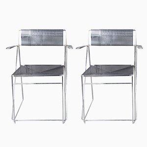 Vintage X-Line Chairs by Niels Jørgen Haugesen for Hybodan, Set of 2