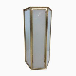 Applique vintage in ottone e vetro di La Lanterna