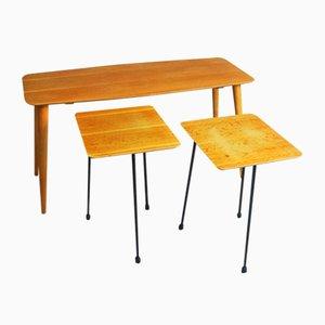 Tavolini a incastro Mid-Century moderni, Belgio, anni '60