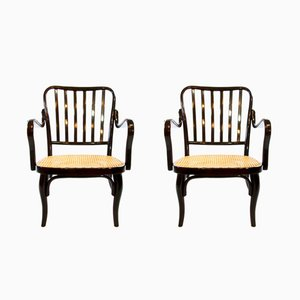 Vintage Bauhaus Model Number 752 Bentwood Armchairs by Josef Frank for Thonet, Set of 2