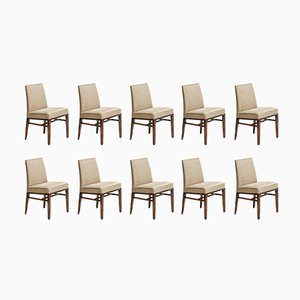 Mid-Century Dining Chairs by Edward J. Wormley for Dunbar, 1950s, Set of 10