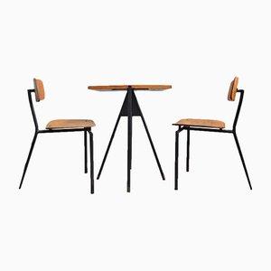Set de Tables Bistrot et Deux Chaises Vintage, 1980s