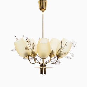 9029/5 Chandelier by Paavo Tynell for Taito Oy, 1950s