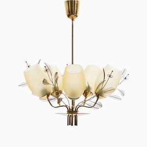 Lámpara de araña 9029/5 de Paavo Tynell para Taito Oy, años 50