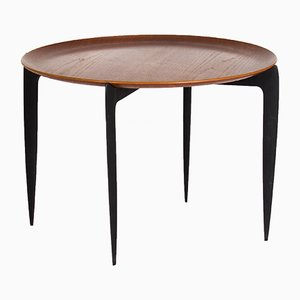 Circular Tray Table by H. Engholm & S.A. Willumsen for Fritz Hansen, 1958