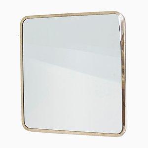 Specchio con cornice in ottone di Ivar Björk per Ystad-metall, Svezia, anni '50