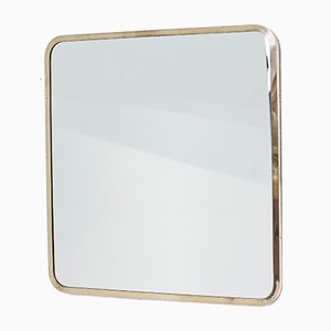 Swedish Brass Framed Mirror by Ivar Björk for Ystad-Metall, 1950s