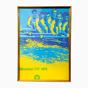 Vintage Munich Summer Olympics Canoeing Poster, 1972