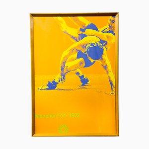 Munich Olympics Judo Silk Screen Poster, 1972