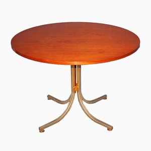 Mid-Century French Round Table with Extensions, 1960s