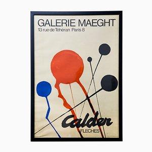 Póster de galería vintage de Alexander Calder, años 60