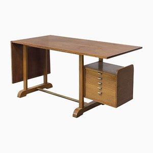 Italienischer Mid-Century Eiche Schreibtisch von Alberto Sissel, 1950er