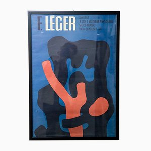 Poster vintage per Fernand Léger, 1968