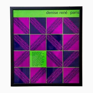 Poster vintage della mostra di Denise René a Parigi