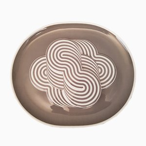 Porcelain Plate by Natale Sapone for Rosenthal, 1972