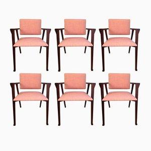 Italienische Luisa Palisander Esszimmerstühle von Franco Albini für Poggi, 1950er, 6er Set
