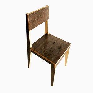 Chaise en Bois Ancien par Marco Caliandro