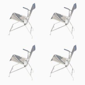 Chaises de Jardin Pliantes en Métal, 1950s, Set de 4