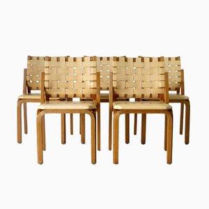 Sedie modello 612 di Alvar Aalto per Artek, anni '50, set di 5