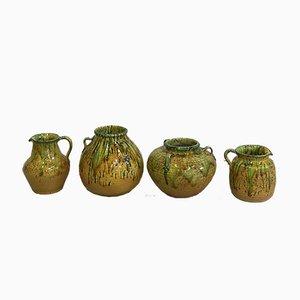 Vintage Italian Glazed Jugs and Vases, 1960s, Set of 4