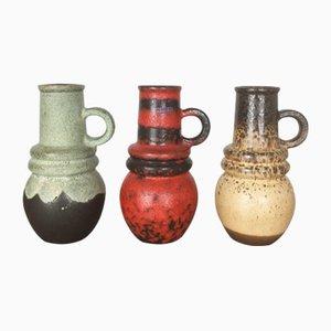Vintage Fat Lava Vienna Vases from Scheurich, 1970s, Set of 3