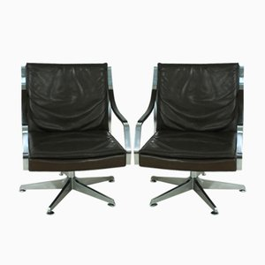 Leather Lounge Chairs by Rudolf Bernd Glatzel for Walter Knoll, 1970s, Set of 2