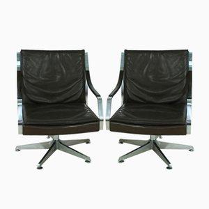 Sessel aus Leder von Rudolf Bernd Glatzel für Knoll Inc, 1970er, 2er Set