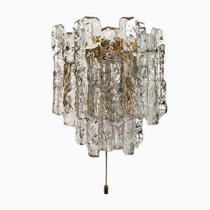 Lampada da parete in vetro smerigliato di J.T. Kalkar per Franken KG, anni '60