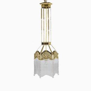 Lampe à Suspension Art Nouveau, 1900s