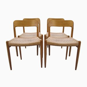 No. 75 Chairs by Niels Otto Møller for J.L. Møllers, 1950s, Set of 4