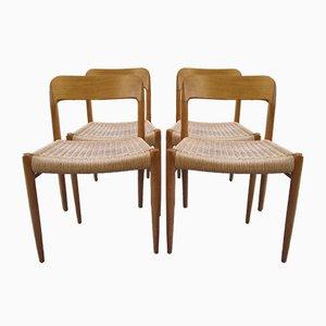 Nr. 75 Stühle von Niels Otto Møller für J.L. Møllers, 1950er, 4er Set