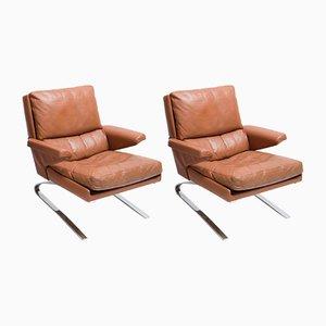 Sessel aus Leder von Reinhold Adolf & Hans Jürgen Schröpfer für Cor, 1960er, 2er Set