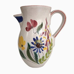Vintage Faience Jug by Stig Lindberg for Gustavsberg