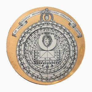 Assiette Astrolabio Vintage par Piero Fornasetti