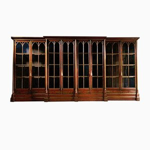 Antique Oxford College Library Bookcase, 1820s