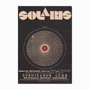 Polnisches Vintage Plakat des Films Solaris von Andrzej Bertrandt für CWF, 1972