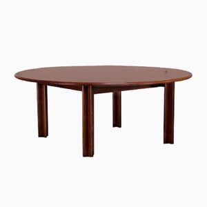 Vintage Round Coffee Table in Rosewood from Bramin