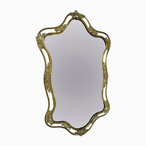 Italian Brass Liberty Mirror, 1930s