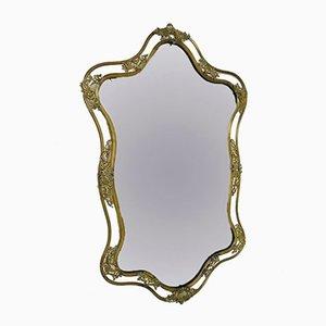 Specchio Art Nouveau in ottone, Italia, anni '30