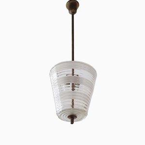 Lampe à Suspension Vintage en Verre de Murano, Italie