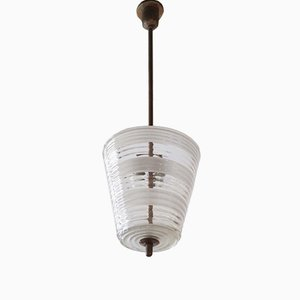 Vintage Italian Murano Glass Pendant Light