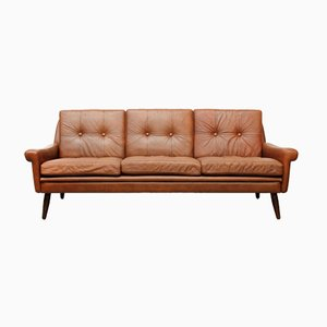 Vintage Leather Sofa by Svend Skipper for Skippers Møbler