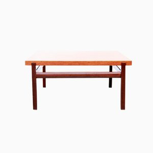 Mid-Century Square Teak Veneer Coffee Table by Louis Van Teeffelen for Wébé
