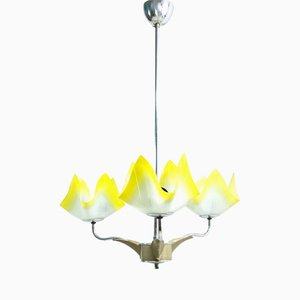 6538 Chandelier from ESC Zukov Czechoslovakia, 1960s