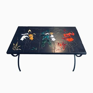 Tavolo in ceramica, anni '50