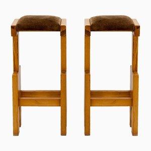 Vintage Stühle aus Pinienholz im Brutalistischen Sil, 2er Set