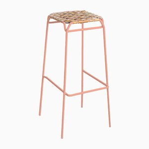 Pastel Pink Taburet Bar Stool by Anastasiya Koshcheeva for Moya