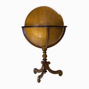 Large 18th Century French Hand Painted Terrestrial Globe